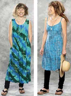 Sahalie Women's Chic Batik Dress: 100% cotton, usa made, super